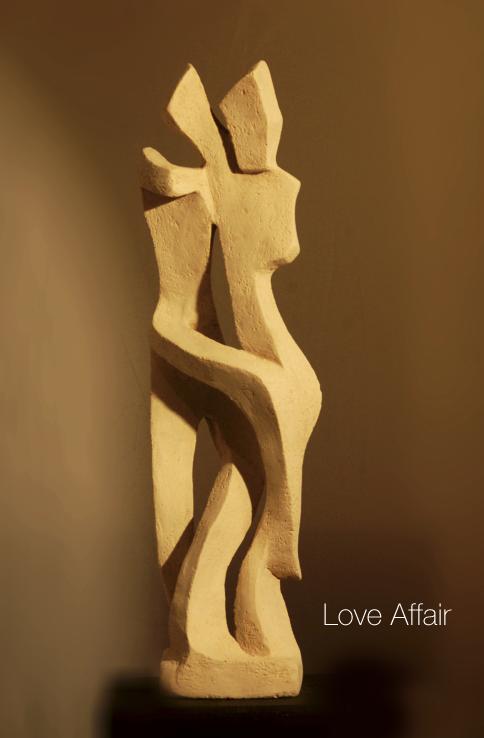 Zweisam - Moderne Keramik Skulptur -  Bildhauer Eckhard Haas