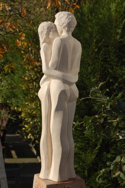Sandstein Skulptur Motiv Liebespaar